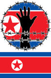 Violation of human rights in North Korea. Illustration Stock Images