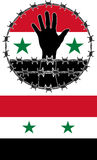 Violation of human rights in Syria. Vector illustration Royalty Free Stock Images