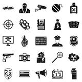 Violation icons set, simple style Stock Photography