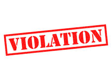 VIOLATION. Red Rubber Stamp over a white background Royalty Free Stock Image