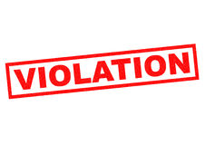 VIOLATION. Red Rubber Stamp over a white background Royalty Free Stock Images