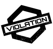 Violation rubber stamp Stock Photo
