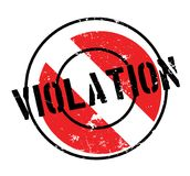 Violation rubber stamp Royalty Free Stock Image