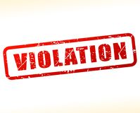 Violation text buffered on white background Royalty Free Stock Image