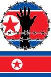 Violazione dei diritti dell'uomo in Corea del Nord Immagini Stock