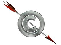Violazione del copyright Immagini Stock Libere da Diritti
