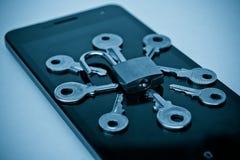 Violazione della sicurezza di Smartphone Immagini Stock