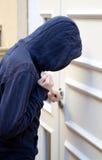 Violazione di domicilio con effrazione Fotografia Stock