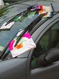 Violazioni del biglietto di parcheggio Immagini Stock