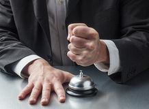 Violence in customer service. Anxiety management in service industry Stock Image