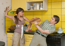 Violence in a family Royalty Free Stock Photography