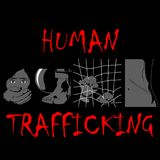 Human Trafficking Awareness Day, four type illustration of human trafficking in . Violence of humanity, and social comunity, crime watch in dark place Stock Photos