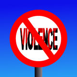 Violence prohibited sign Royalty Free Stock Images