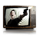 Violence in tv Stock Images