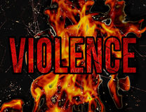 Violence Typography Grunge Style Illustration Design Royalty Free Stock Image
