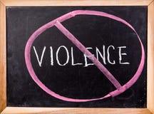 Violence  word on blackboard Royalty Free Stock Photo