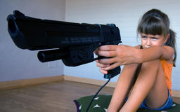 Violence from a young age stock photography