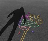 Violencia de la enfermedad mental ilustración del vector