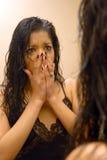 Violencia en el hogar Foto de archivo libre de regalías