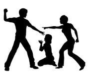 Violencia en el hogar stock de ilustración