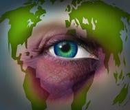 Violencia en el hogar global ilustración del vector