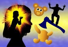 Violencia en niñez temprana Fotografía de archivo libre de regalías