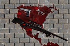 Violent america Stock Image