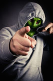 Violent armed robber Stock Image
