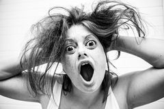 Violent and badly woman Royalty Free Stock Photo