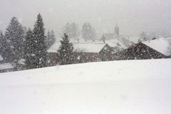 A violent blizzard in Bavaria Royalty Free Stock Photos