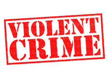 VIOLENT CRIME. Red Rubber Stamp over a white background Stock Photo