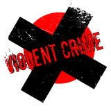 Violent Crime rubber stamp Stock Photo