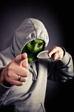 Violent hooded thug Royalty Free Stock Photos