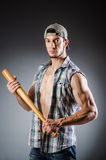 Violent man with baseball bat Stock Photo