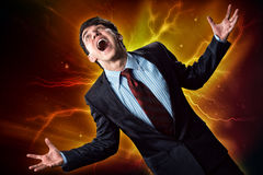 Violent man Royalty Free Stock Images
