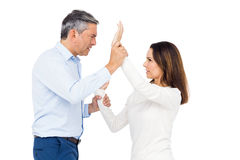 Violent man grabbing wifes wrists Royalty Free Stock Photography