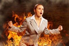 Violent woman Stock Photo