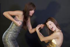 Violent women Stock Images