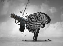 Violenza armata e salute mentale fotografie stock libere da diritti