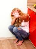 Violenza domestica Fotografie Stock