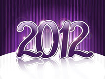 Violet 2012 on abstract  background Royalty Free Stock Images