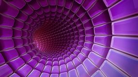 Violet 3d abstraction background. Violet futuristic 3d plate abstraction background with conceptual design Stock Images