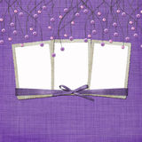 Violet abstract background with suspended beads Stock Photos