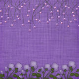 Violet abstract background with suspended beads Royalty Free Stock Images
