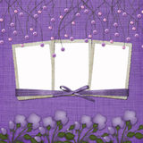 Violet abstract background with suspended beads Stock Images