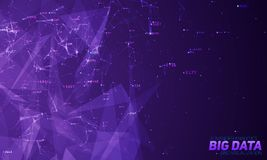 Violet abstract 3D big data visualization. Intricate financial data threads analysis. Business analytics representation. Futuristic infographics aesthetic Royalty Free Stock Image