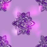 Violet abstract flower. Simple violet abstract flower in graphic style Vector Illustration