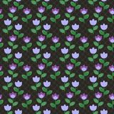 Violet abstract flowers pattern Royalty Free Stock Photo
