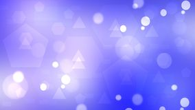 Violet abstract geometric bokeh background consisting of triangles and hexagons. vector illustration