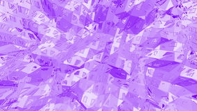 Violet abstract low poly waving surface as dream background. Violet abstract geometric vibrating environment or stock video